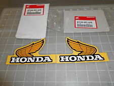 HONDA CR125 STICKERS 87123-391-670 RT 87124-391-670 LT 1 PAIR FREE SHIPPING