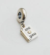 "Genuine Pandora two-tone Dangle Charm ""We love you"" Happy Mother's Day - 791532"