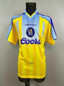 CHELSEA 1997 1998 AWAY SHIRT FOOTBALL SOCCER JERSEY UMBRO MENS SIZE XL