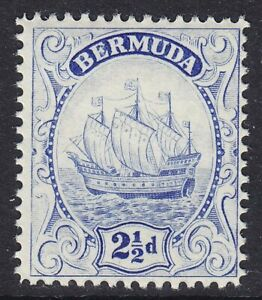 BERMUDA 1922-34 SG82b 2½d ULTRAMARINE (II) MNH