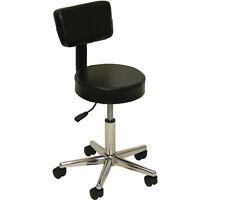 Black Backrest Stool Dentist Doctor Medical Massage Facial Spa Salon Equipment