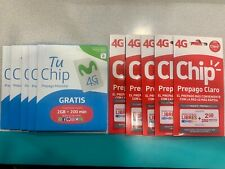 1 Claro & 1 Movistar Simcards from Chile