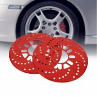 1 Set coche aluminio ROJO ROTOR DISCO DE FRENO Embellecedor Decorativo Funda