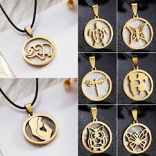 Fashion Stainless Steel Owl Elephant Pendant Shell Necklace Women Jewelry Gifts