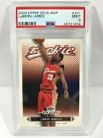 2003-04 Upper Deck MVP #201 LeBron James Cleveland Cavaliers RC Rookie PSA 9
