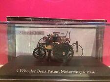 SUPERBE 3 WHEELER BENZ PATENT MOTORWAGEN 1886 1/43 NEUF BOITE SOUS BLISTER