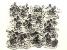 Disney Mickey Mouse Flake Sticker 40 Silhouette Drawing Sketch Scrapbook JAPAN