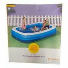 """New listing SUN SQUAD 10ft. Inflatable Rectangular Family Inflatable Swimming Pool 10'x22"""""""