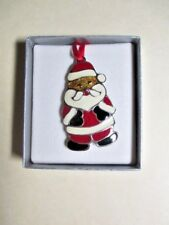 Wallace Silversmiths Santa Christmas Cookie Ornament in Solid Pewter