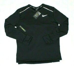 Nike Men's Long Sleeve Running Black Shirt Therma Sphere Element 3.0 Size M New