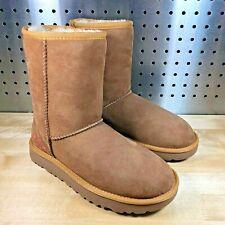 UGG Australia CLASSIC SHORT Rustic Weave 1094330 Chestnut Suede BOOTS Sz 5