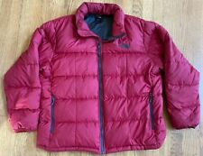 THE NORTH FACE Mens 550 Puffy Down Coat XXL Dark Red/Maroon/Grey