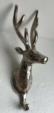 Deer Buck Silver Tone Country Coat Hat Bag Hanger Hook