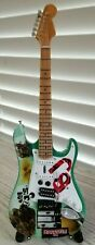 Green Day Billy Joe Amstrong Miniature Tribute Guitar with Stand - MCA 095