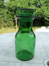 Bocal ou vase à bouchon bulle verre vert vintage 70' lever made in Belgium