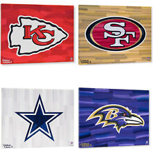 """Los equipos de la NFL Logotipo de 16"""" X 20"""" con Galería envuelta adornado Giclee de fondo"""