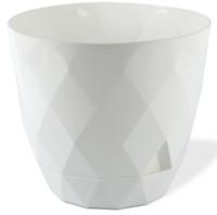 White Diamond Shape Modern Large Plant Pot Indoor / Outdoor 4.8 Litre Planter