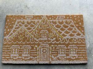New Pottery Barn Gingerbread House Door Mat Christmas Winter