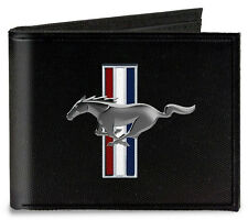 Canvas Ford Mustang tribar logo bi-fold wallet - great gift!
