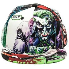 DC COMICS THE JOKER WHITE SUBLIMATED ALL OVER PRINT SNAPBACK HAT CAP LOGO BATMAN