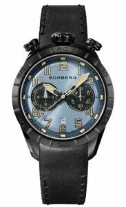 Bomberg Men's NS44CHPBA-208-9 BB-68 Racer 44mm Blue and Black Dial Watch