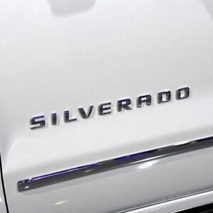 Chevy Silverado Emblem 07-19 Door/Tailgate Silver Badge Sign Logo Letters Fender