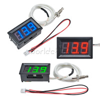 DC 12V Digital Green LED Display Thermometer K-type M6 Thermocouple Gauge