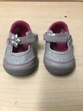 Stride Rite Surprize Toddler Girl Silver Mary Janes Size 3 (EU 19)