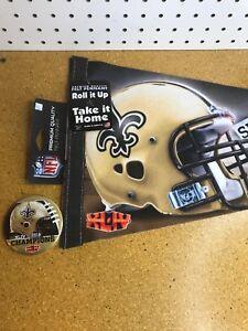 New Orleans Saints Felt Pennant 2009 Super Bowl 44 XLIV Champions NFL Drew Brees