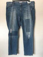 Sonoma Womens Plus Size 24W Mid Rise Distressed Skinny Jeans NWT