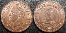 Napoléon III - Deux centimes tête laurée 1861 K, Bordeaux - SUP / SPL - F.108/3