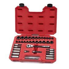 New! Craftsman 38 Pc Universal Socket Set Deep Std Metric SAE 3/8 Dr