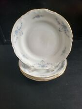 "CHODZIEZ CHZ12 BLUE FLORAL SWAG GARLAND 4 BREAD AND BUTTER PLATE 6 7/8"" DIAMETER"
