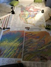 Vintage 1980 Pennsylvania 1965 North America Geological Surveys Maps Survey Lot