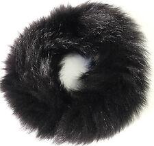 Kragen Fuchs Pelz Black Schal Seefuchs Boa Pelz Fuchskragen Mode Trend Schwarz