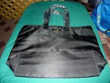BOSS Large Black Double Strap Polyester Purse Handbag Bag Satchel NEW