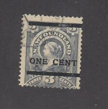 NEWFOUNDLAND # 76 FVF-LIGHT USED SURCHARGED CAT VALUE $160+