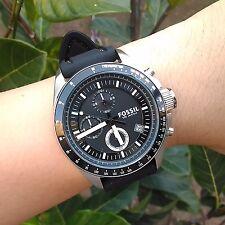 Fossil Men's CH2573 Decker Chronograph Silicone Watch Black #SALE