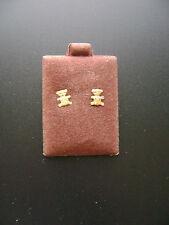 14k Gold Teddy Bear Stud Earrings New Old Stock