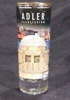 Adler Planetarium 3 OZ Tall Shot Glass Gold Rim Chicago Skyline Weighted Bottom