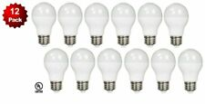 12 Pack- LED 100 Watt Equivalent 5000K 100W A19 Daylight White Light Bulb 12W UL