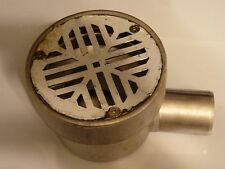 STAINLESS STEEL DECK DRAIN SCUPPER WITH HORIZONTAL OUTLET (STECKDRAIN) ITALY