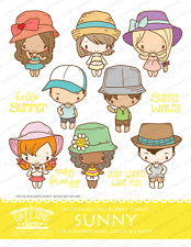 Sunny Kit-The Greeting Farm Rubber Stamp-Stamping Craft-Anya/Ian-Summer/Bea ch