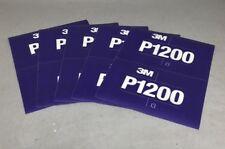 Flexible Abrasive Hookit Sheet 270J, 5.5 in x 6.8 in, P1200 3M 34342 pack of 5