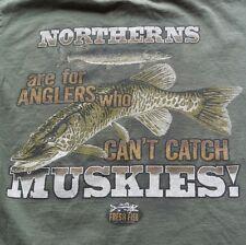 Fresh Fish T Shirt Esox Musky Fishing Big Game Fisherman Trophy Muskie Hunter M