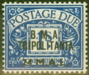 Tripolitania 1948 24l on 1s Dp Blue SGTD5 Fine MNH