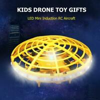 Infrared Sensor UFO LED Mini Induction RC Aircraft Kids Child Drone Toy Gifts