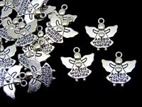 5 Pcs Tibetan Silver Diabetic Medical Alert Message Pendant Diabetes Charm S54