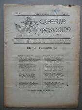 Guerin Meschino Coloniale Anno 7 N.455 San Paolo Brasile 1/10/1921 Emigrazione