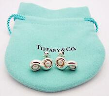 ESTATE!!! Tiffany & Co. Infinity 4MM Pearl Stud Earrings in Sterling Silver